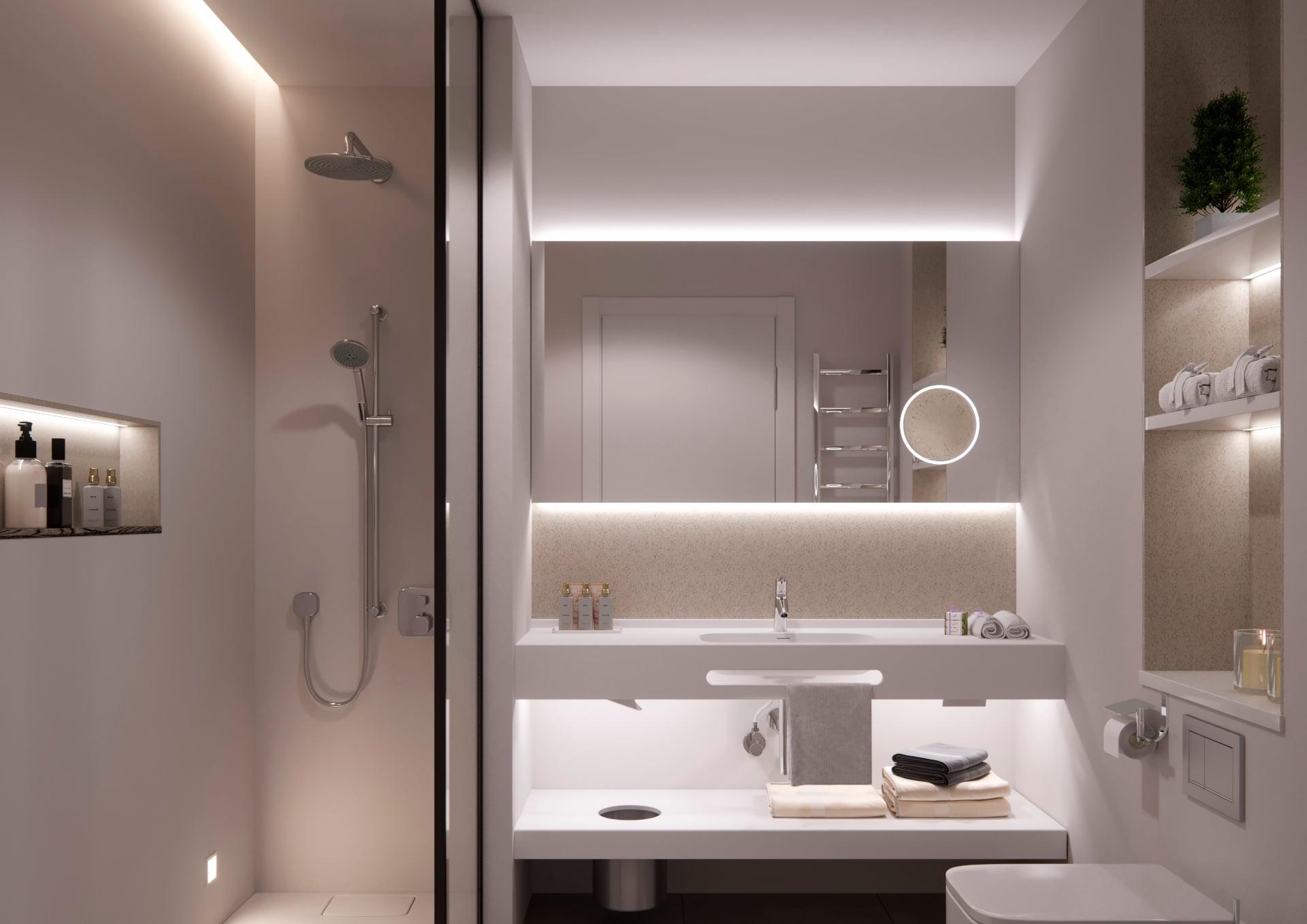Led Iluminated Bathroom Mirrors Eumar Design